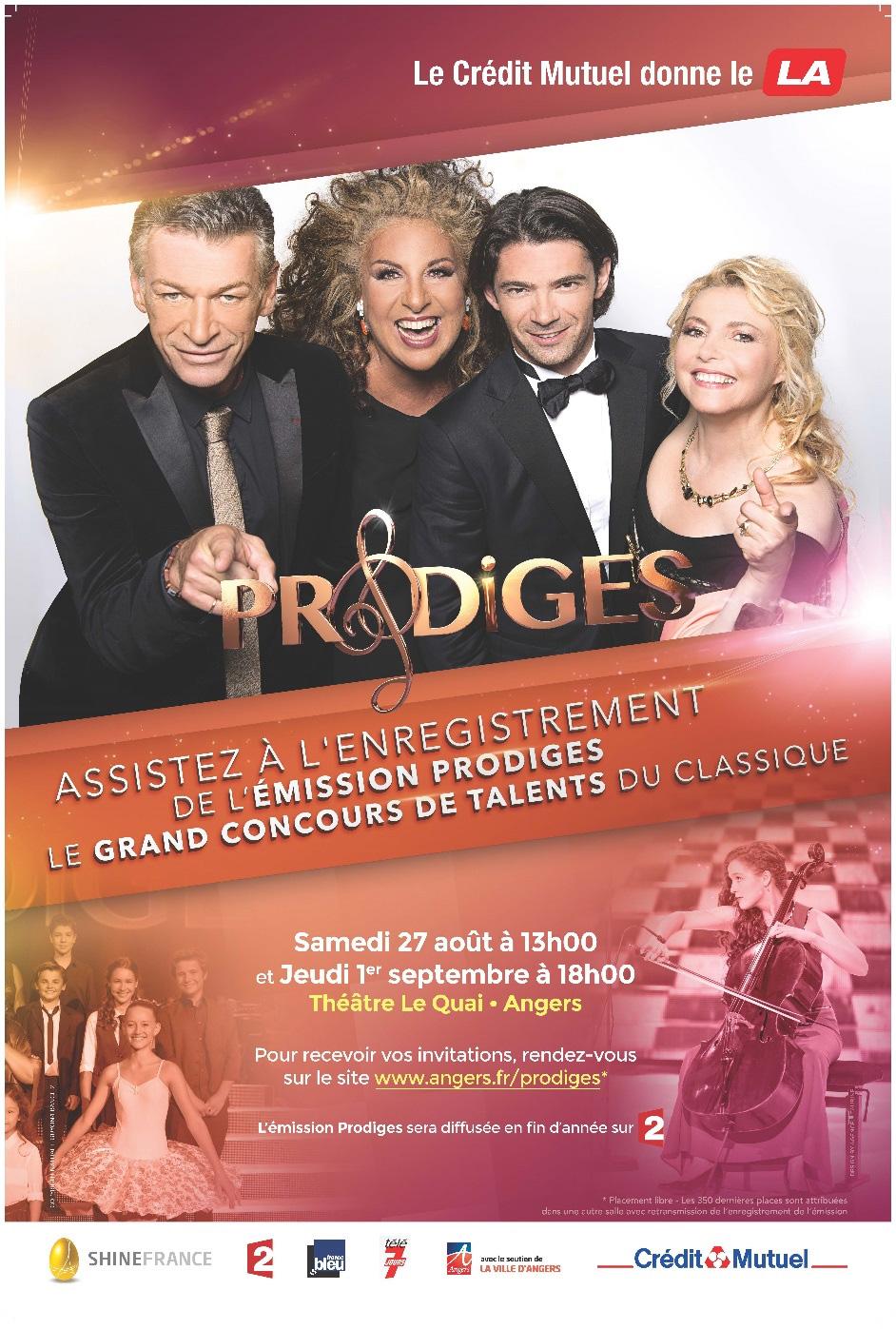 Affiche de l'émission Prodiges