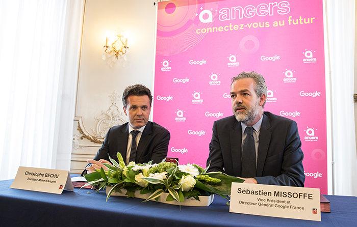 Le partenariat signé par Google avec la ville d'Angers prévoit un accompagnement des artisans et commerçants avec, parmi les objectifs, le développement de leur offre commerciale sur le web. (Photo: Thierry Bonnet/Ville d'Angers)
