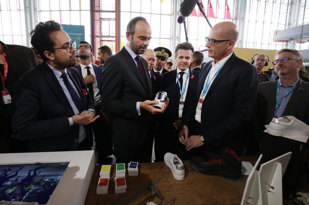 Reportage sur le WEF World Eletronics Forum à Angers le 27 octobre 2017.  Visite du Premier Ministre Edouard Philippe.  ©Jean-Sébastien EVRARD  0681653729