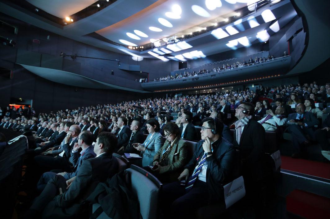 Reportage sur le WEF World Eletronics Forum à Angers le 27 octobre 2017.  Discours du Premier Ministre Edouard Philippe.  ©Jean-Sébastien EVRARD  0681653729